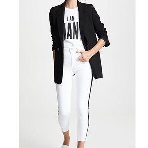 Zara Stripe White Jeans Size 4